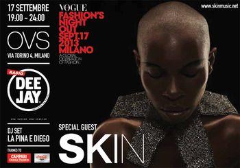 SKIN special guest di OVS alla Vogue Fashion's Night Out di Milano!