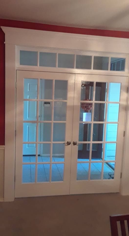 Interior French Door With Transom Installed By Kgk Home Improvements Llc In Austin Texas 787 French Doors Interior Interior Door Styles Sliding Doors Interior