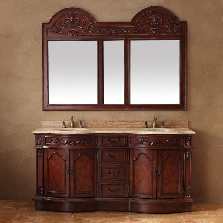 Buy The James Martin Furniture Classico 72 Double Vanity In Cherry With  Marble Top   Vanity Top Included From Homeclick At The Discounted Price Of