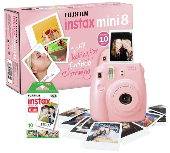 Buy Fujifilm Instax Mini 8 Instant Camera with 10 Shots - Pink at Argos.co.uk, visit Argos.co.uk to shop online for Instant cameras, Cameras, Cameras and camcorders, Technology