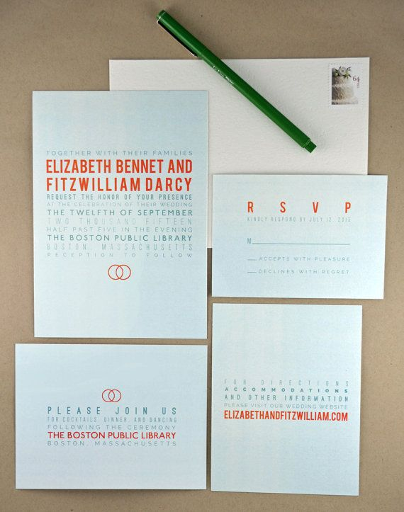 A Beautiful DIY Printable Wedding Invitation Suite Featuring Modern  Minimalist Typography And A Wedding Band Motif
