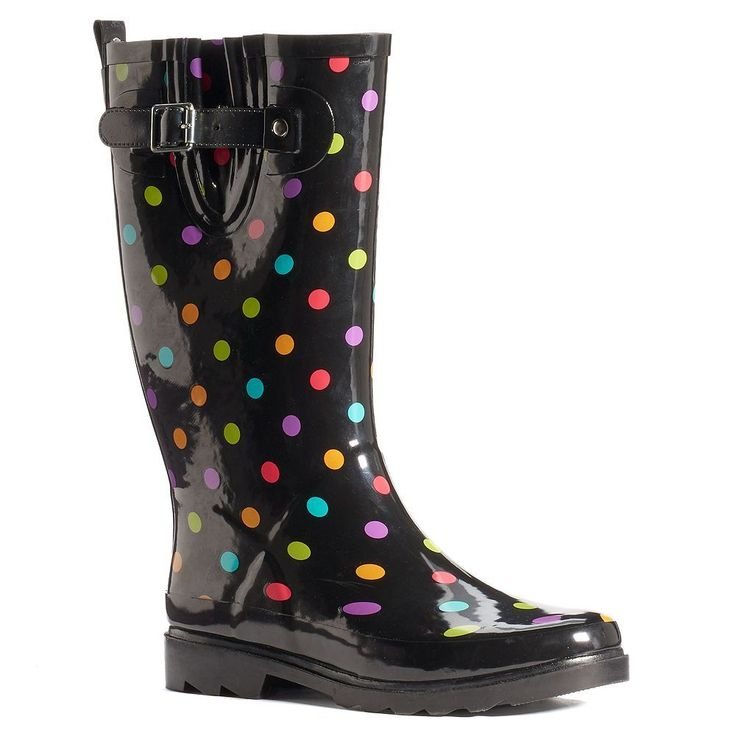 Western Chief Women's Mid-Calf Water-Resistant Rain Boots, Size: 11, Black