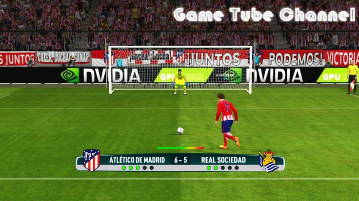 Atletico Madrid vs Real Sociedad Penalty Shootout of PES 2017 Gameplay