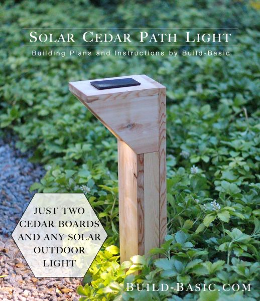 build a solar cedar path light building plans by buildbasic wwwbuild - Solar Pathway Lights