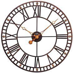 AMS+9537+-+Wanduhr+-+XXL+Uhr+-+Antik+Optik+-+Geräuschlose+Uhr+-+Uhren+Neu