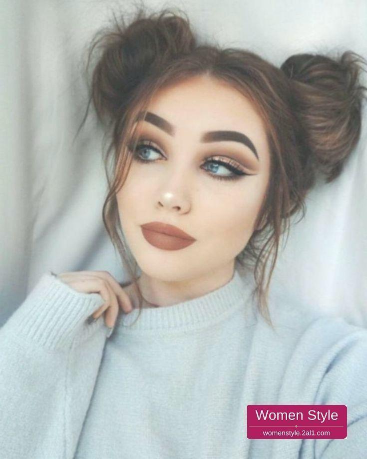 43 superbes idées de coiffures populaires pour l'école et le collège dressip.com/…, #college #dressip #gorgeous #hairstyles #ideas -