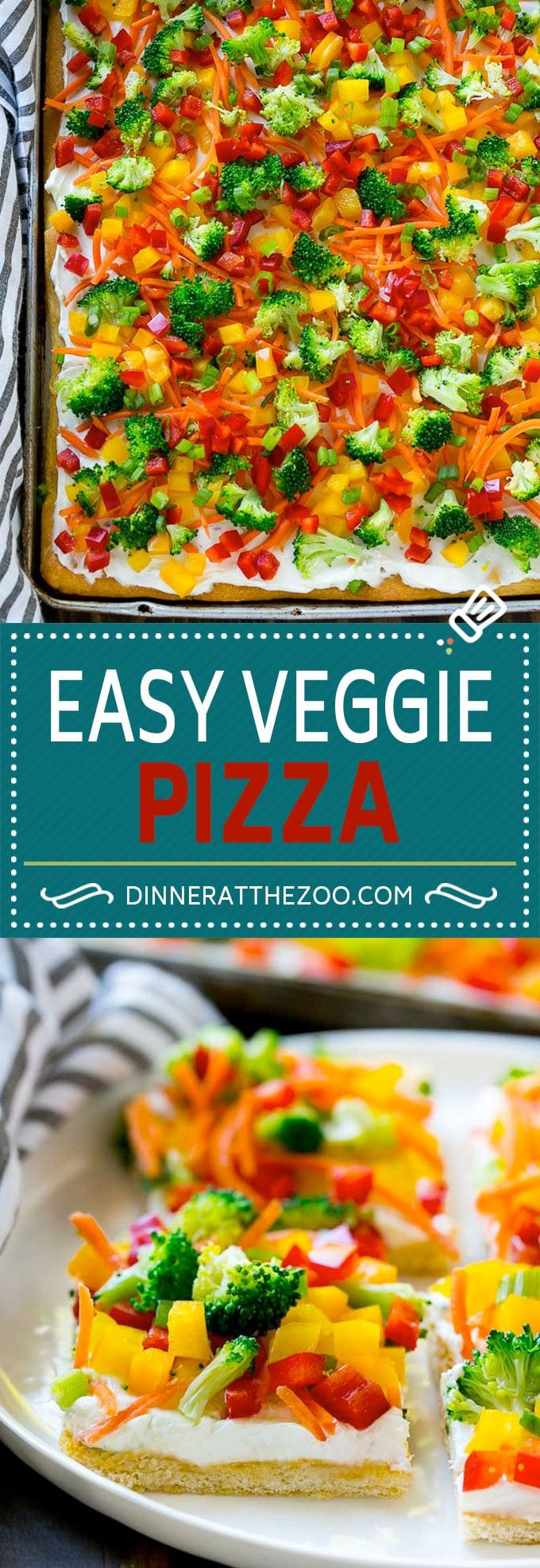 Veggie Pizza Recipe #ad #RanchOut @walmart @glad @hiddenvalley