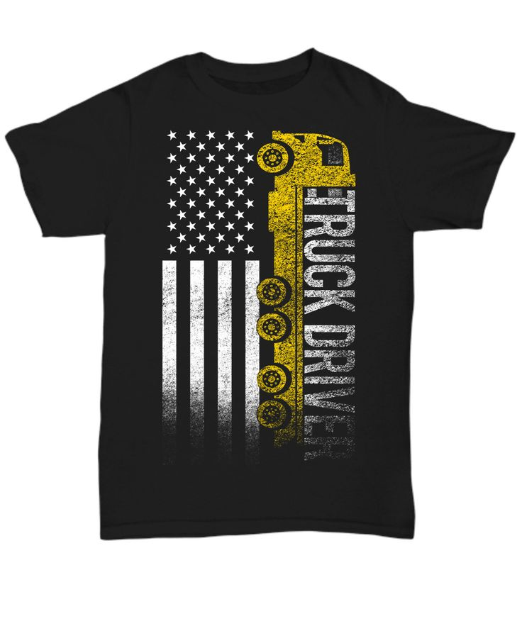 "Show your Truck Driver pride with this cool ""Truck Driver American"" shirt."