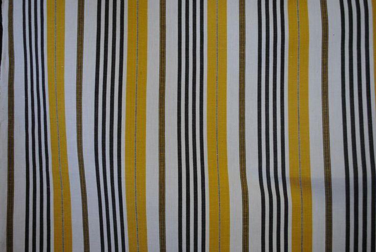 Guild Stripe Mustard Grey showing pattern repeat