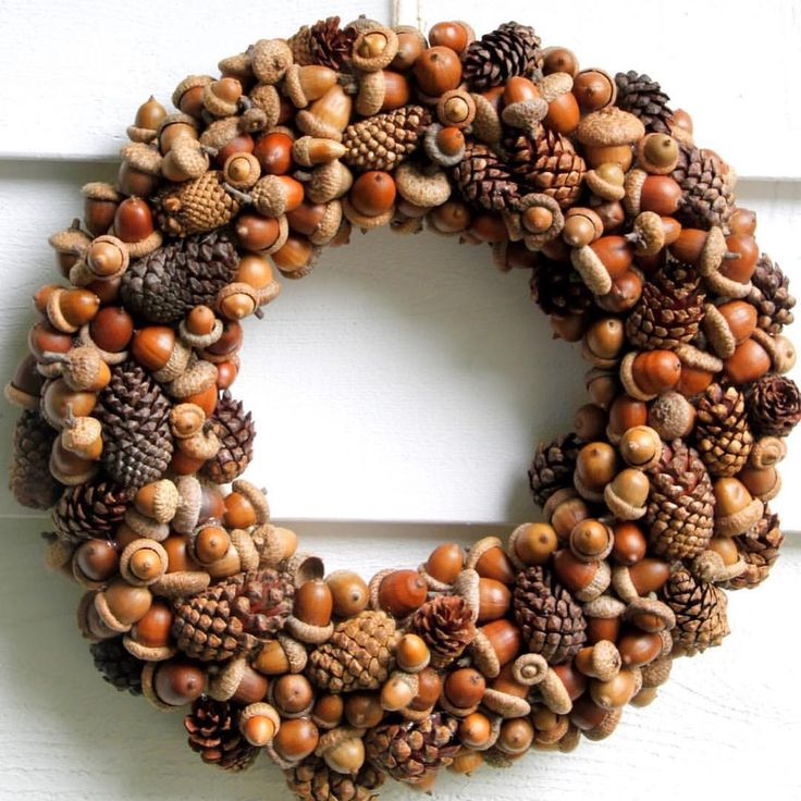 Go Nuts!  I would call this a classic throwback to the Pine Cone Wreath my gmaily used to make and sell back in the 70's.  They were really popular in the Midwest.