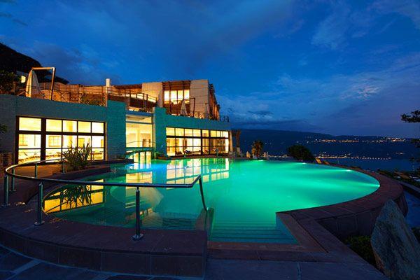 Surrounded by Gentle Hills and Olive Trees: Lefay Resort & SPA Lago di Garda: Resorts Spa, Lefay Resorts, Garda, Lefayresort, Lake, Dreams Pools, Spa Lago, Pools Design, Lakes Garda