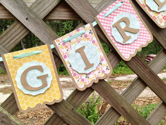 Its A Girl Banner, Its A Girl Baby Shower by SharingAPassionINC, Etsy