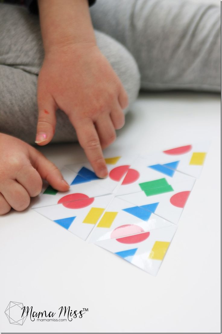 FREE Triangle Tessellation Puzzle for Kids. Hands-on shape challenge.