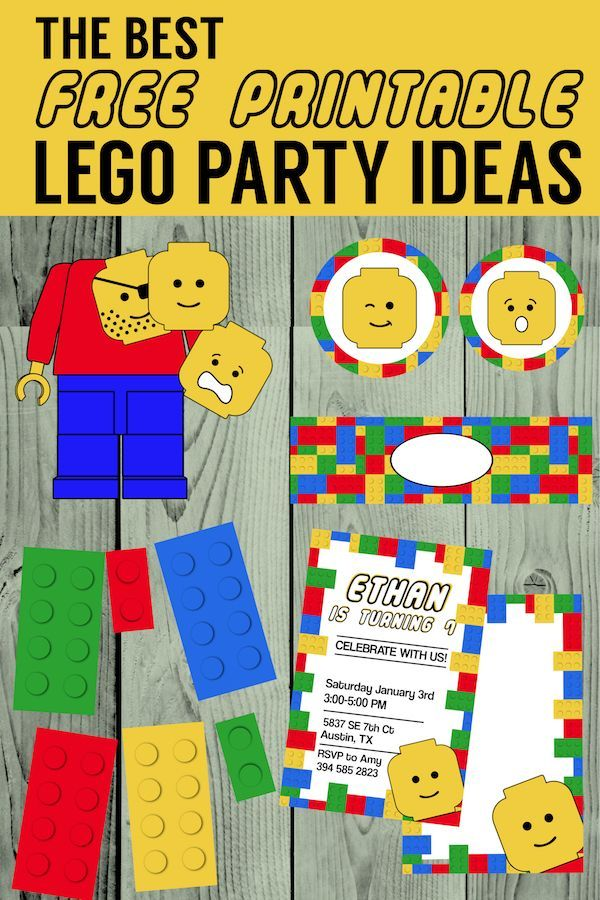 graphic about Lego Party Printable called Easiest Lego Birthday Get together Options No cost Printables Grandkids