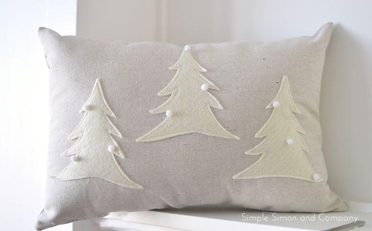 DIY Felt Christmas Pillow Tutorial from Simple Simon and Company