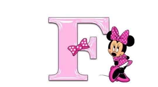 Minnie mouse pink alphabet jewels art creation - Fuente letra infantil ...
