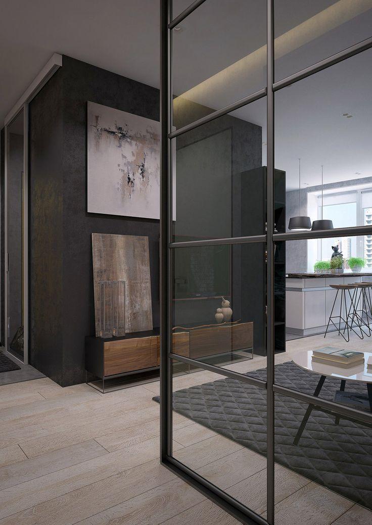 Серый интерьер гостиной #Living_Room #Interiors