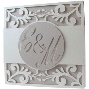 Silhouette Design Store - View Design #163588: wedding layer card