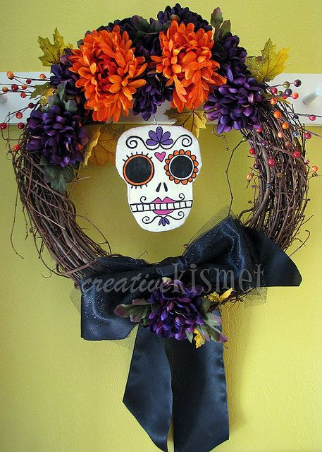 Day of the Dead/Halloween Wreath by Regina (creative kismet)