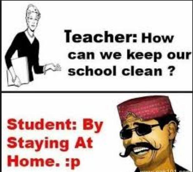 Lazy Students Response Funny School Jokes Funny English