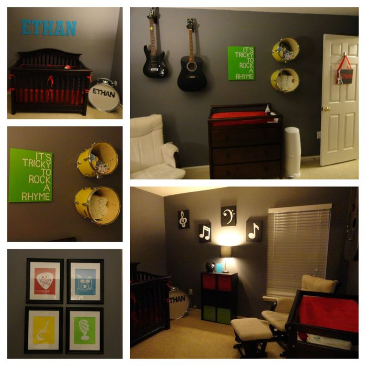Ethan 39 s rock n 39 roll nursery nursery decor pinterest for Rock n roll baby crib set