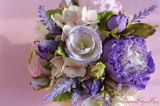 фоамиран цветочные композиции фото.
