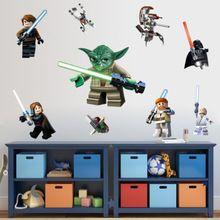 LEGO YODA Star War 9 Characters Decal Removable WALL STICKER Kids Room Decor Art(China (Mainland))