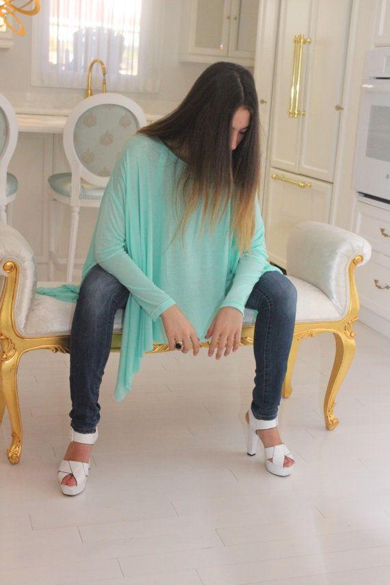 Chemise ample / Oversize menthe vert femmes par SimplyByKaren