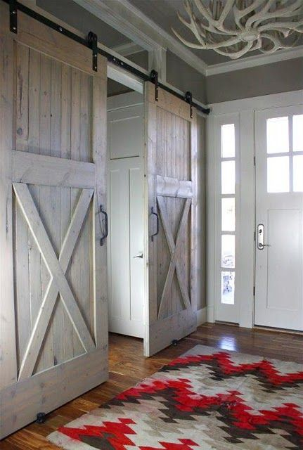 barn door room separator {awesome}