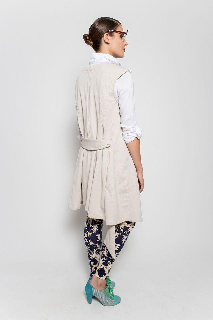 #lafemmemimi #fashion #prague #autumn #winter #2015 #lookbook #white #vest #dress #belt