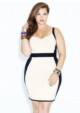 Plus size fashionblock dresses black and white beautiful plus size