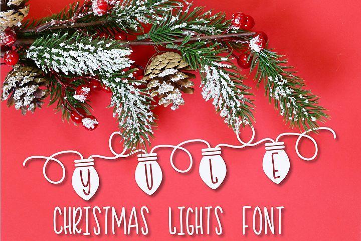 Yule Christmas Lights Font 120689 Christmas Font Bundles In 2020 Christmas Lights Light Font Christmas Fonts