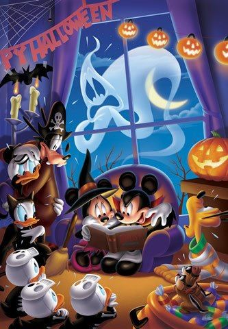 Mickey Mouse & Friends Halloween iPhone Wallpaper