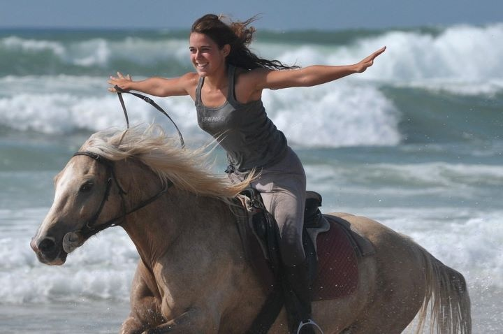 Horseback riding is a great way to tone up those inner thighs!