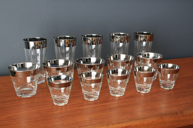 Set of 15 Vintage Mid-Century Cocktail Glasses   200.00 from Midcentury Modern Finds