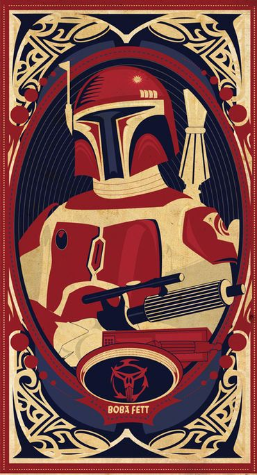 Man Cave- I'm not even a Star Wars fan but do actually really appreciate the design of the characters - particularly all the soldier/warrior types.    I love the style of this poster more.    Posters by Mike Mann, via Behance