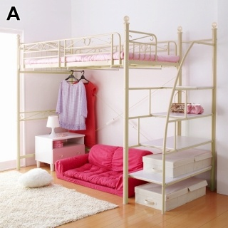 nissen loft bed with stairs
