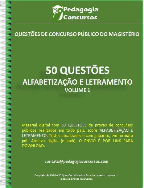 50 Questões sobre Alfabetização e Letramento