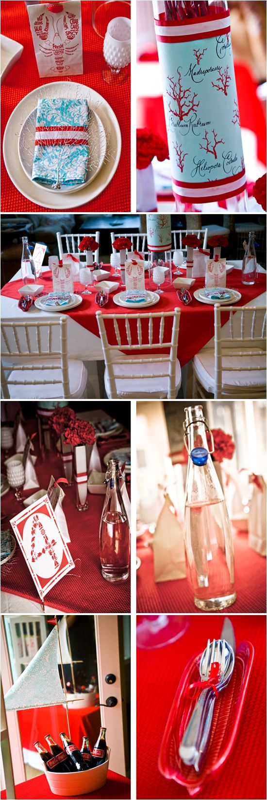 cute way to do a white table cloth with a smaller red one on top.  note to self.  4th of july