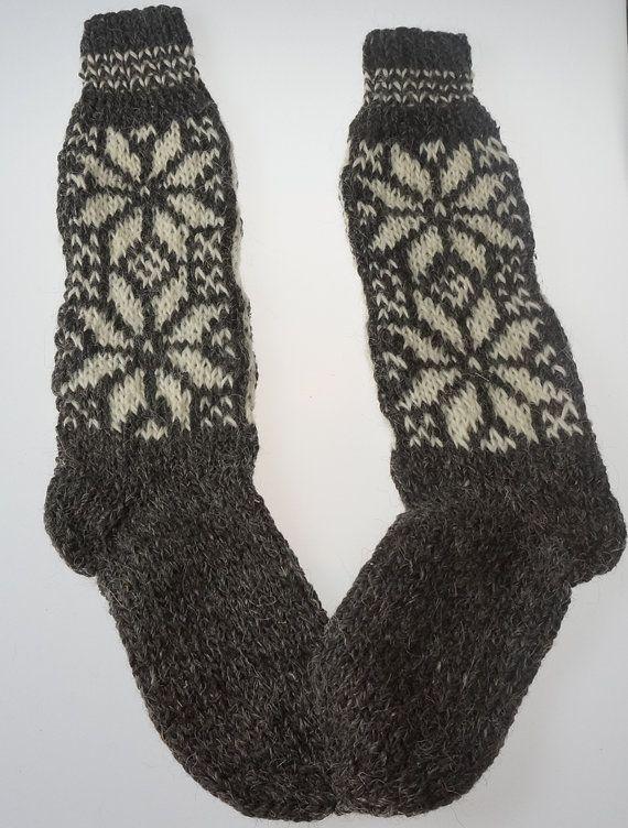 SALE Ecological hand knitted Very LONG Knee door TrendingSlippers