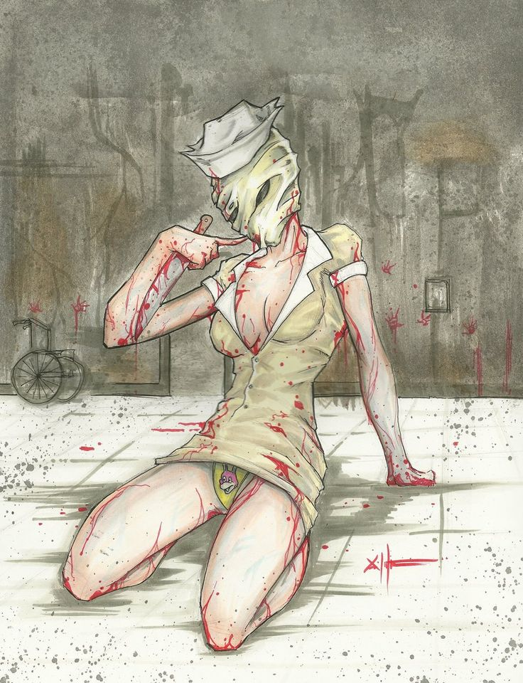 Silent Hill pin-up nurse by ChrisOzFulton.deviantart.com on @deviantART