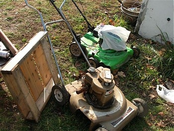 55 best vintage gas reel mowers images on pinterest lawn mower 60s wards push mower 3hp briggs 20 with the elusive crank starter what you did was set a pin on the flywheel crank the starter release the pin sciox Image collections