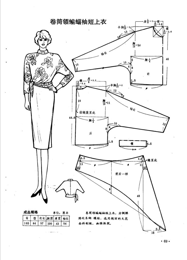 Vintage blouse, patterns instructions