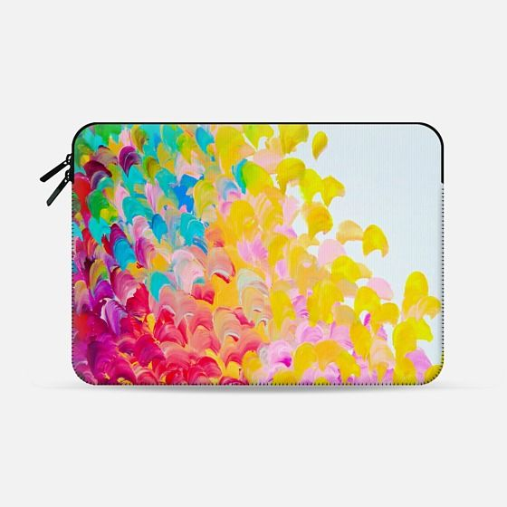 """Creation in Color"" by Artist Julia Di Sano, Ebi Emporium on @casetify  Fine Art Abstract Acrylic Painting Fun Rainbow Multicolor Ocean Waves Splash Neon Ombre Pattern Feminine Girly Summer Design Colorful Tech Device Macbook Laptop Sleeve #art #fineart #rainbow #colorful #neon #multicolor #ocean #waves #splash #macbookpro #macbookair #sleeve #macbook #chic #ombre #painting #techdevice #tech #MacbookCover #pattern  Get $10 off using code: 5K7VFT"