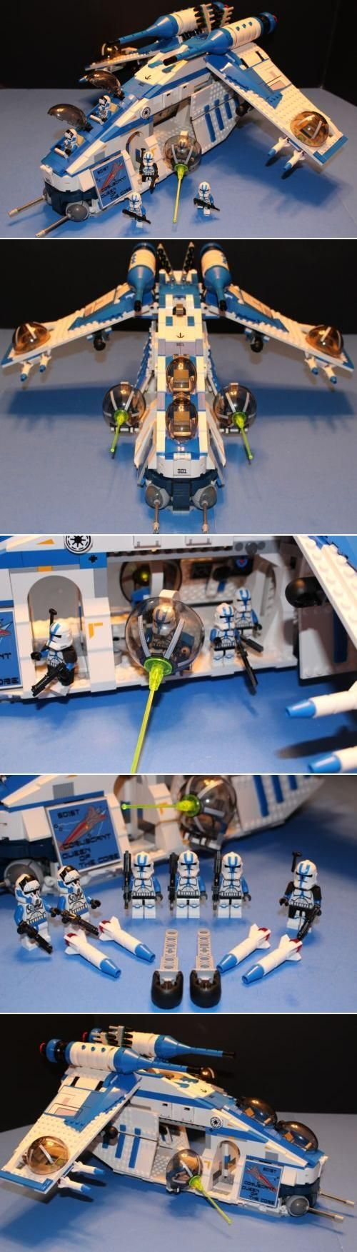Relive the best of battles, and race to rescue Obi-Wan, Anakin and Padme in this amazing LEGO Star Wars Republic Gunship!