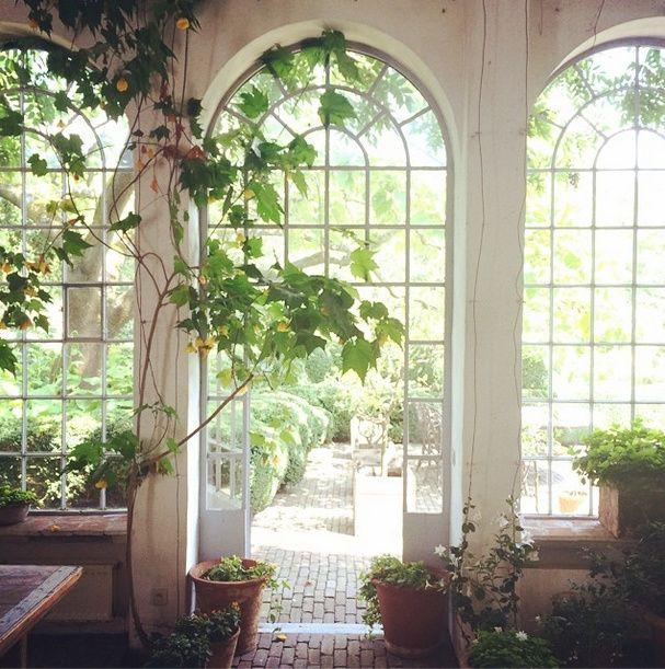 Orangery at Axel Vervoordt castle Gravenwezel - From Hamish Bowles Instagram