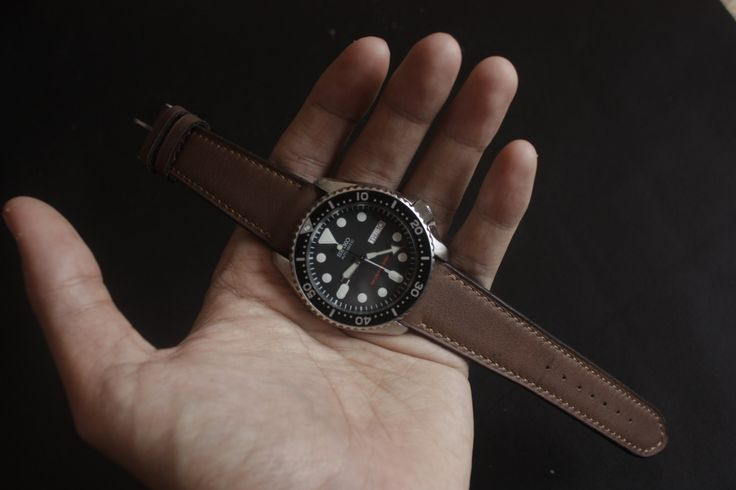 Vintage Dark Brown Leather Watch Strap Handmade for your Rolex, Tudor, Omega, IWC, Seiko etc (18mm 20mm 22mm) (115mm/75mm) FREE SHIPPING! by SIMPLEASTRAPS on Etsy