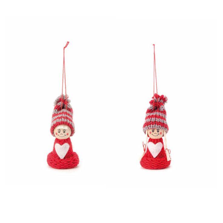 Strickfiguren Junge und Mädchen oder Boy and Girl - Gestrickte Winterkinder « Basteln mit Filz « Weihnachtliches Basteln « Basteln im Junghans-Wolle Creativ-Shop kaufen