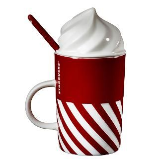 Starbucks ® Online Store | Cream sugar cane mugs group MUG 12 OZ CANDY CANE WHIP