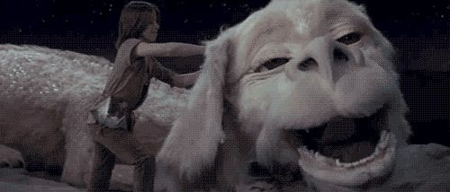 Falkor the Luckdragon is shockingly creepy.